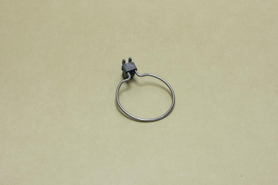 Круглый держатель (перф. панель), серый