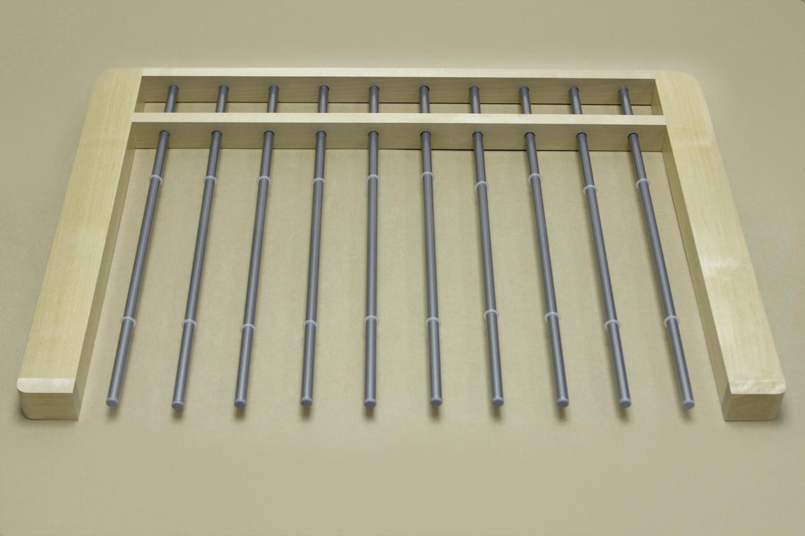 Брючница выдвижная дер., 10 рельс,шир.60 см,береза